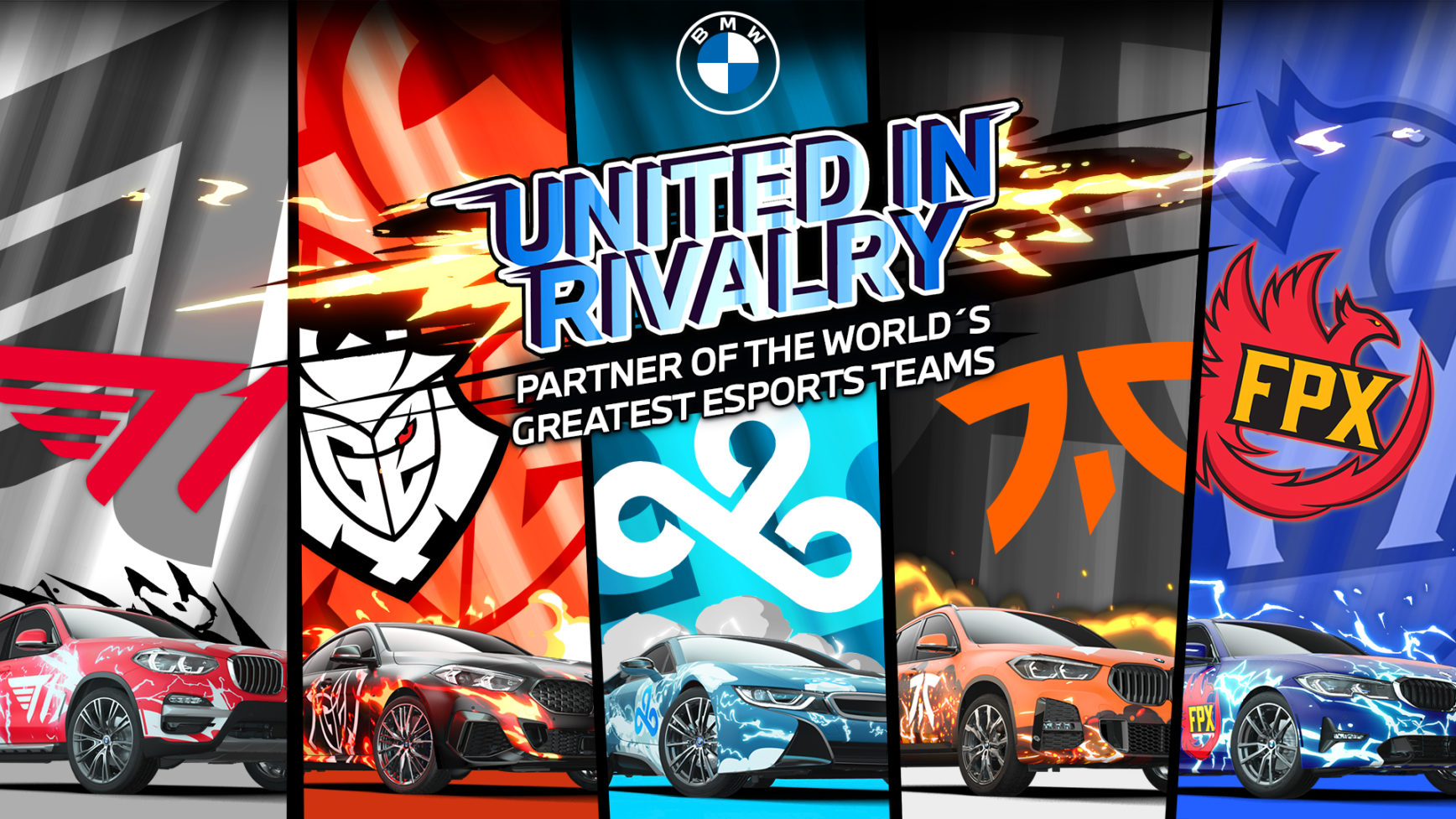 Team up - BMW - Top5 leading esports teams - cover