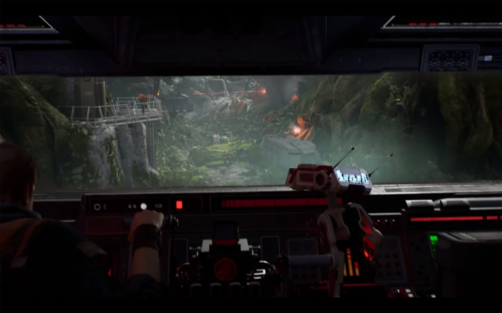 Jedi: Fallen Order - 2019 - screen - Cal and BD-1 drive the AT-AT walker