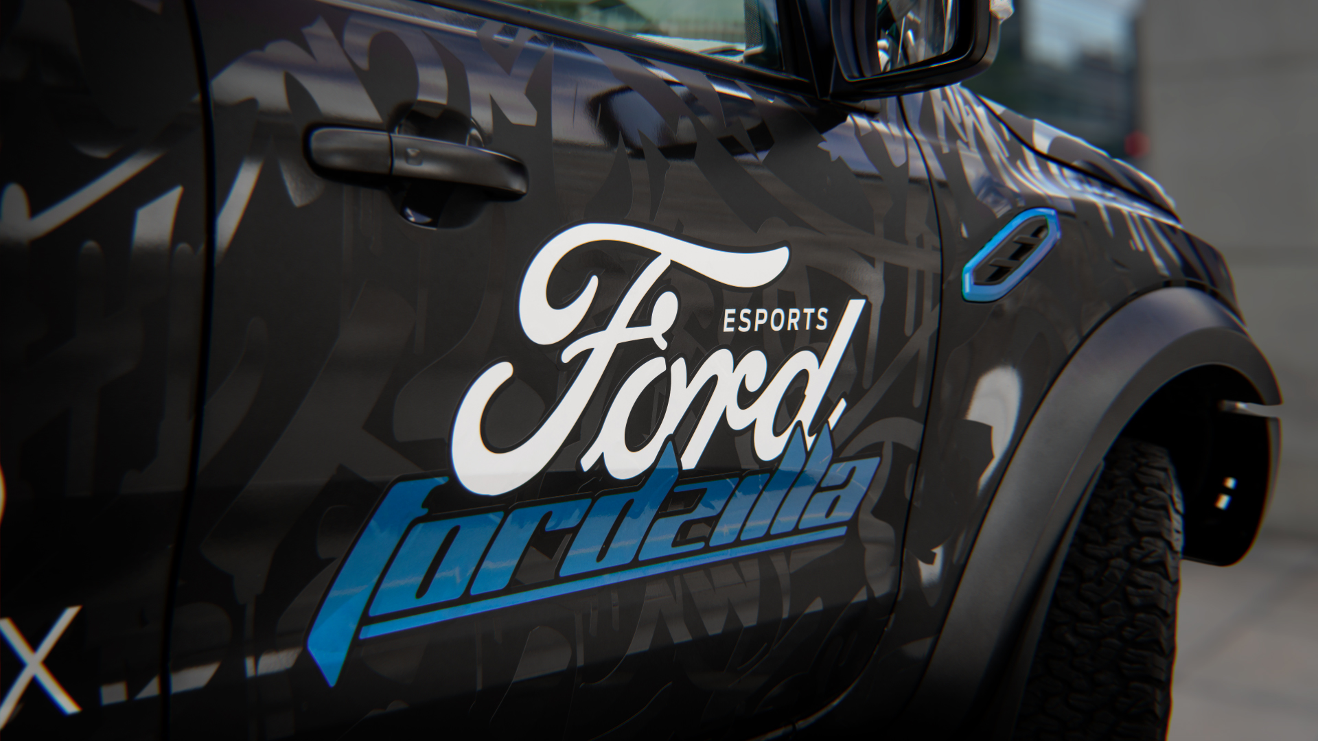Fordzilla - 2019 - gamescom reveal - logo wrapped Raptor